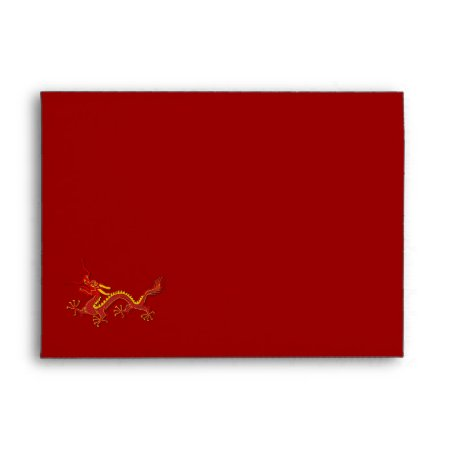 Chinese Red And Gold Year Of The Dragon Letter Envelope
