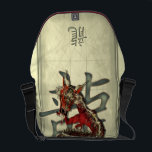 "Chinese Red Dragon Messenger Bag<br><div class=""desc"">The Chinese Dragon is a symbol to ward off evil spirits, protect the innocent and keep safe all that hold his emblem. Also thought to be the ultimate symbol of good fortune, and everything connected with him is blessed. My design features a twisting red and gold eastern dragon complete with...</div>"
