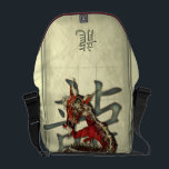 """Chinese Red Dragon Messenger Bag<br><div class=""""desc"""">The Chinese Dragon is a symbol to ward off evil spirits, protect the innocent and keep safe all that hold his emblem. Also thought to be the ultimate symbol of good fortune, and everything connected with him is blessed. My design features a twisting red and gold eastern dragon complete with...</div>"""