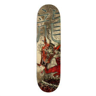 Chinese Red Dragon Skateboard Deck