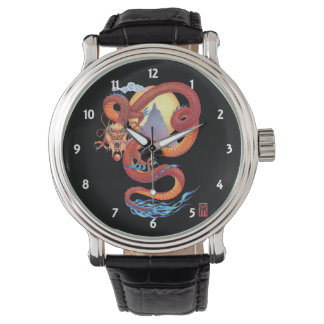 Chinese Red Dragon Wristwatch