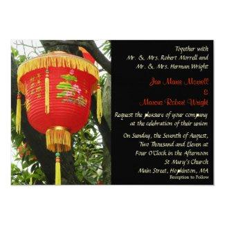 chinese red lantern wedding invitation - Lantern Wedding Invitations
