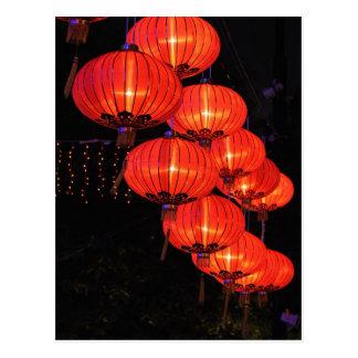 Chinese Red Lanterns Postcards