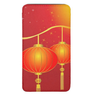 Chinese red paper lanterns with full moon galaxy s5 pouch