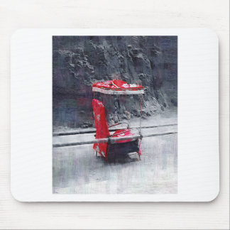 Chinese Red Sedan Chair Mouse Pad