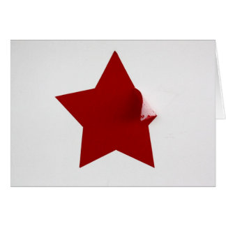 Chinese Red Star - peeling Greeting Cards