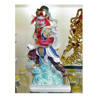 Chinese religious statue postcard