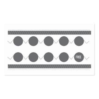 Chinese Restaurant Business Card Loyalty Card