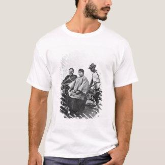 Chinese rickshaw, c.1870 (b/w photo) T-Shirt
