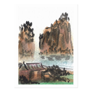 Chinese River Landscape Postcard