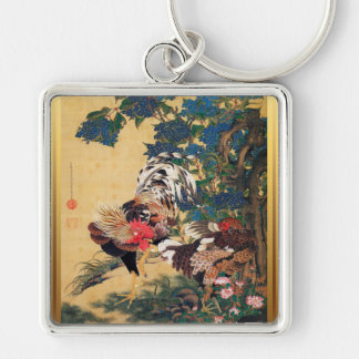 Chinese Rooster New Year 2017 Japanese Art Key Keychain