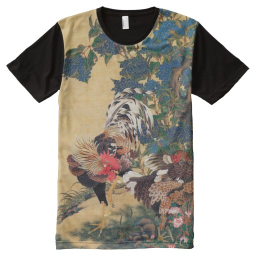 Chinese rooster new year 2017 japanese art shirt all over print t