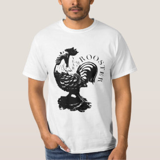 Chinese Rooster Year Black silhouette Men Tee