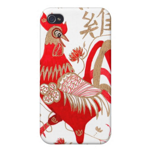 Chinese Rooster Zodiac Speck Case iPhone 4 Covers
