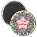 Chinese round pattern good fortune magnets