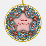 Chinese round pattern good fortune christmas tree ornament