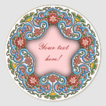 Chinese round pattern good fortune stickers