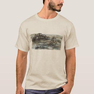 Chinese Sailboat Watercolor Art T-Shirt