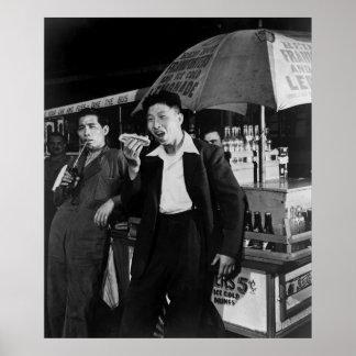 Chinese Seamen Eat Junk Food, 1942 Poster