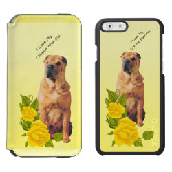 Incipio Watson™ iPhone 6 Wallet Case with Shar-Pei Phone Cases design