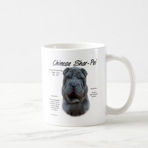 Chinese Shar Pei (blue) History Design Coffee Mugs