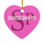 Chinese Shar-Pei Breed Monogram Ceramic Ornament