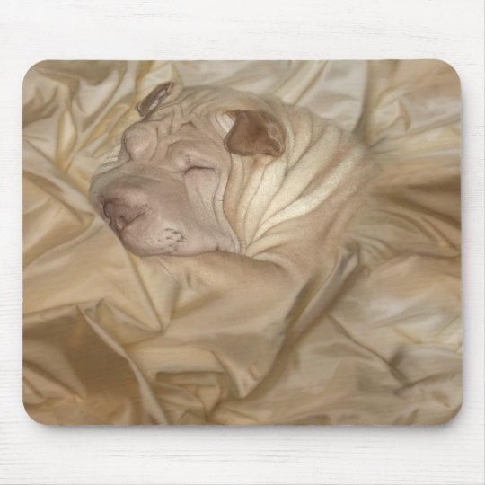 Chinese Shar Pei Camouflaged in Wrinkles Mouse Pad