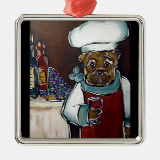 Chinese Shar Pei Chef Metal Ornament
