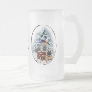 Chinese Shar-Pei Christmas Gifts Frosted Glass Beer Mug