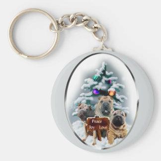 Chinese Shar-Pei Christmas Gifts Key Chain