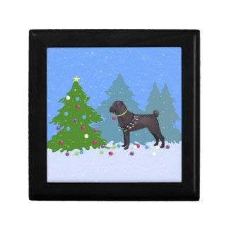 Chinese Shar-Pei Decorating Christmas Tree -forest Jewelry Box