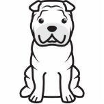Chinese Shar-Pei Dog Cartoon Cut Outs