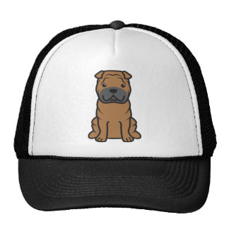 Chinese Shar-Pei Dog Cartoon Hats