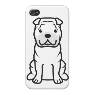 Chinese Shar-Pei Dog Cartoon iPhone 4 Cases