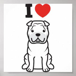 Chinese Shar-Pei Dog Cartoon Posters