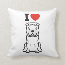 Chinese Shar-Pei Dog Cartoon Throw Pillow