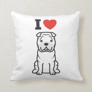 Chinese Shar-Pei Dog Cartoon Throw Pillow