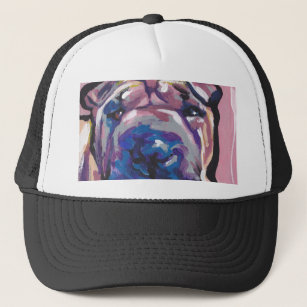Chinese Shar Pei Dog Pop Art Trucker Hat