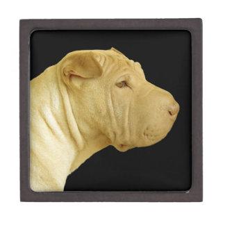 Chinese Shar-Pei Dog Profile Jewelry Box
