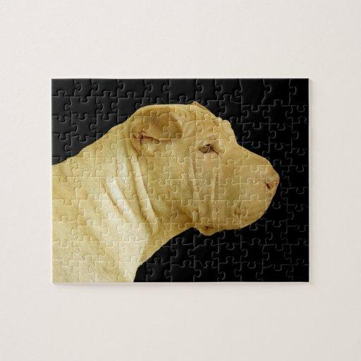 Chinese Shar-Pei Dog Profile Puzzle