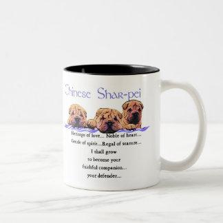 Chinese Shar-pei Gifts Two-Tone Coffee Mug