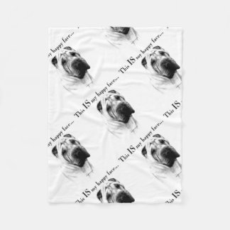 Chinese Shar Pei Happy Face Fleece Blanket