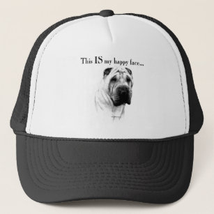 Chinese Shar Pei Happy Face Trucker Hat