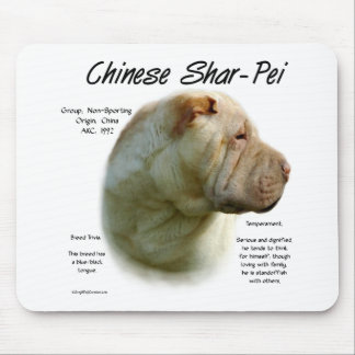 Chinese Shar Pei History Design Mouse Pad