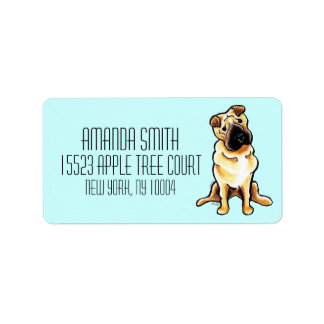 Chinese Shar Pei Off-Leash Art™ Custom Color Label