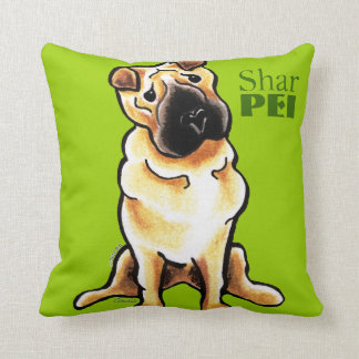 Chinese Shar Pei Off-Leash Art™ Mod Martini Throw Pillow