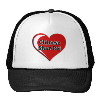 Chinese Shar-Pei on Heart for dog lovers Mesh Hats