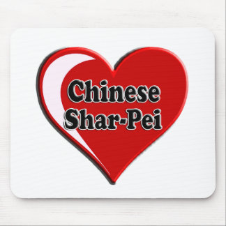 Chinese Shar-Pei on Heart for dog lovers Mouse Pad