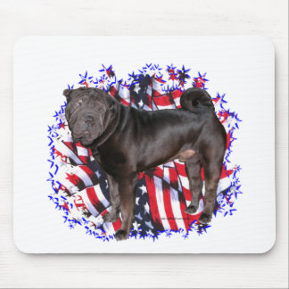 Chinese Shar-Pei Patriot Mouse Pad