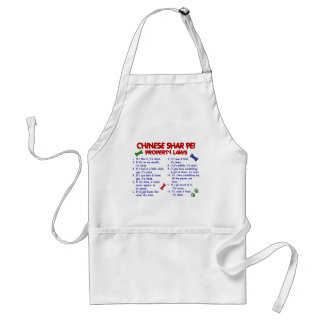 CHINESE SHAR PEI Property Laws 2 Adult Apron